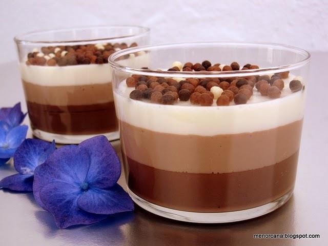 Vasitos tres chocolates ana en la cocina - Ana en la cocina ...