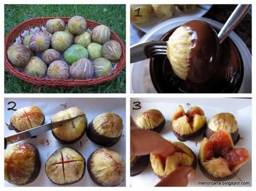 Higos frescos con chocolate y sabay n de cava ana en la - Ana en la cocina ...