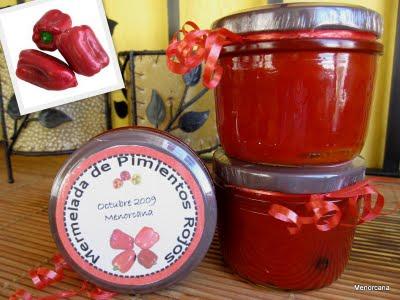 Mermelada de pimientos asados ana en la cocina - Mermelada de pimientos rojos ...