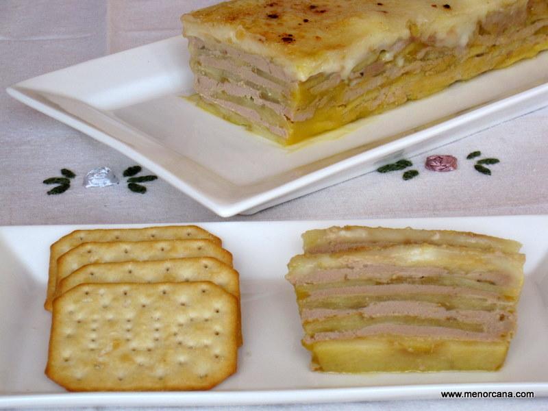 Milhojas de foie y manzana