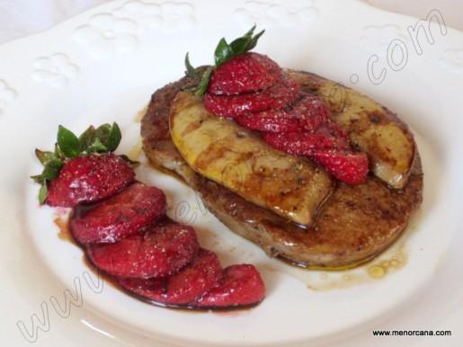 Solomillo de ternera con foie y fresas a la plancha ana for Solomillo de ternera