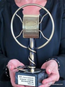 El Lunes 21 de Octubre de 2013 se celebró en el teatro del Orfeón Mahonés la II edición de los premios Onda Cero Menorca. Galardones que otorgan en reconocimiento a la labor de personas y entidades de la isla.