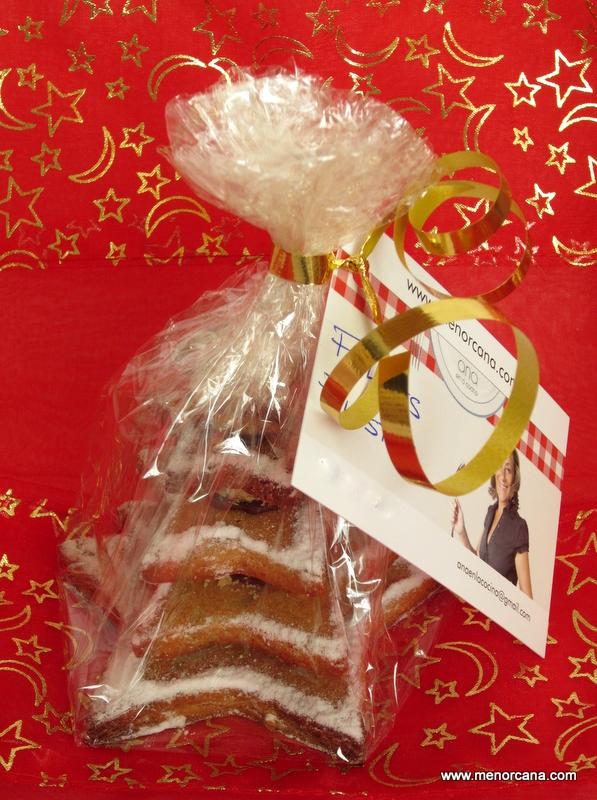 Galletas de turrón «árbol de navidad»