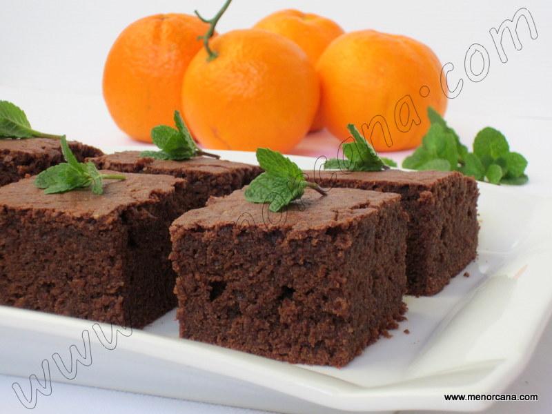 Bizcocho de chocolate a la naranja