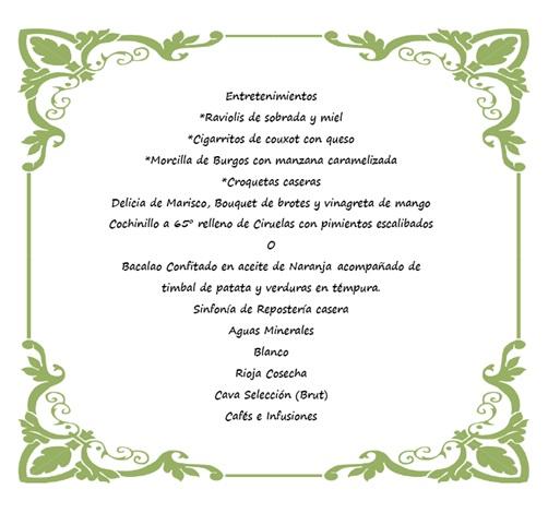 menu binisues