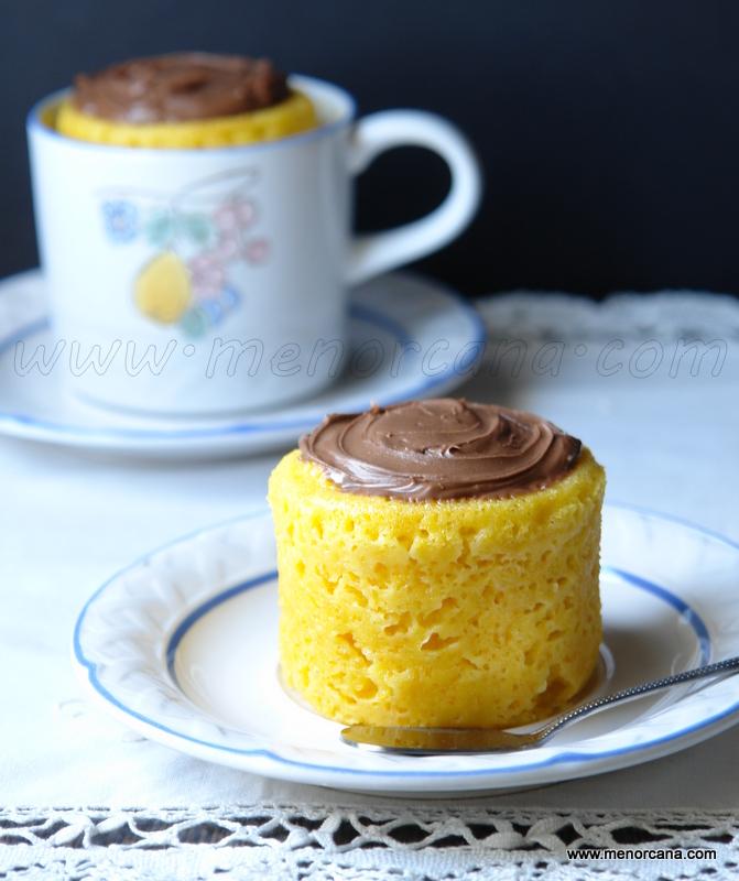 Bizcocho de mandarina en taza al microondas ana en la cocina - Bizcocho con microondas ...