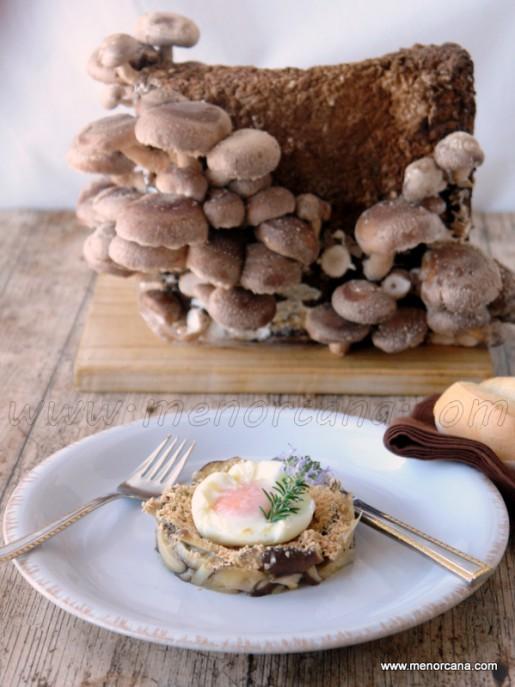 shiitake, foie, huevo 1