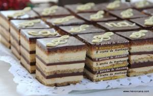La tarta Ópera es un clásico de la repostería francesa, creada en los años 50 por Gastón Lenôtre. Esta formada por cuatro capas de fino bizcocho de almendras empapado con almíbar de café, tres capas de suave crema de mantequilla al café y otras tres de ganache de chocolate. Las diez capas que la forman […]