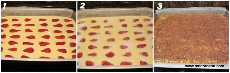 como hacer bizcocho de leche evaporada con fresas