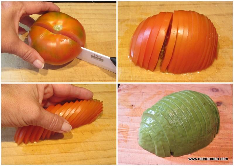 como cortar tomate para ensalada