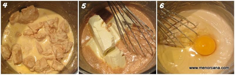 como hacer relleno de cheesecake de foie