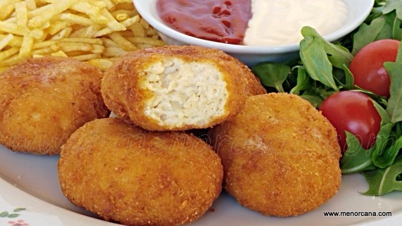 Nuggets de pollo por dentro