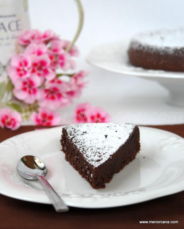 pastel de almendra con chocolate sin gluten
