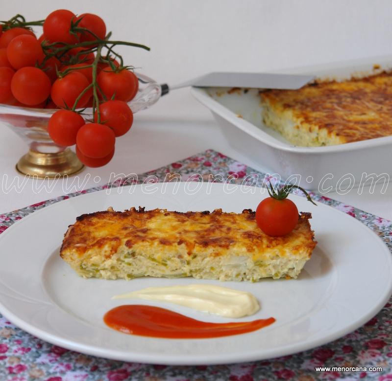 pastel de bacalao con quesos