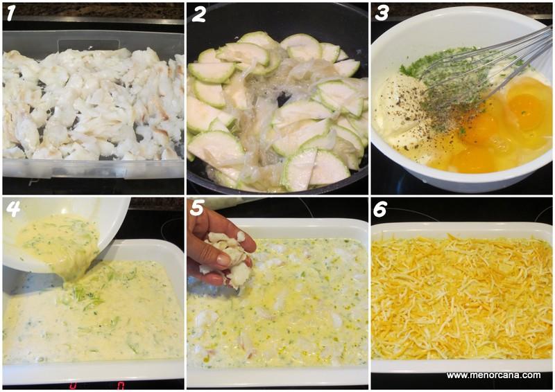 como hacer pastel de merluza con quesos