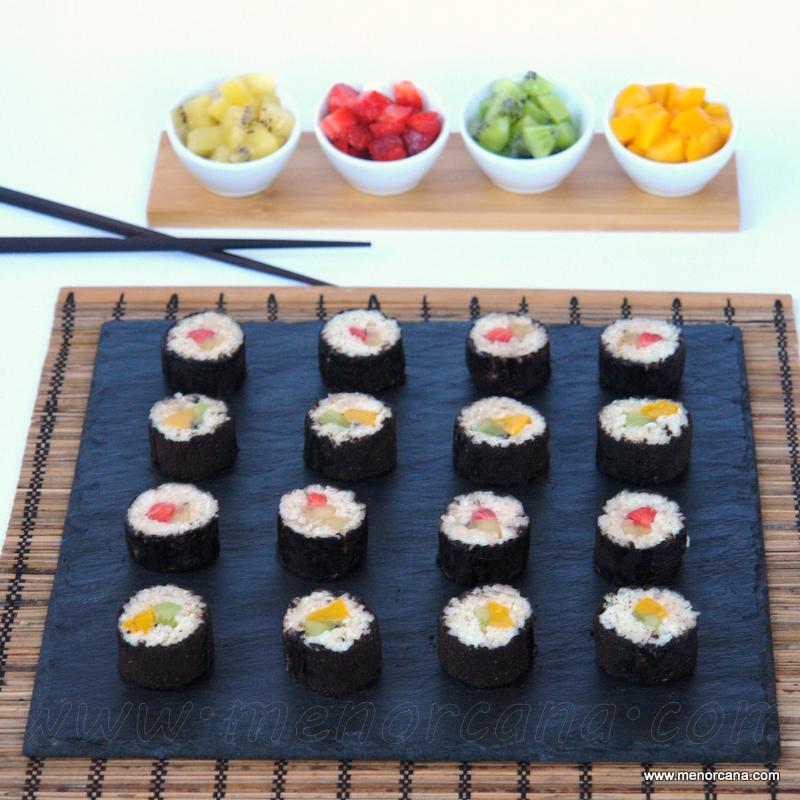 Sushi dulce trampantojo