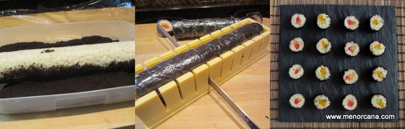 como hacer sushi dulce