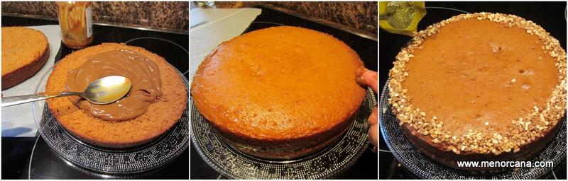 Preparación del bizcocho de dulce de leche (manjar, arequipe o cajeta)