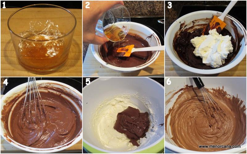 Como hacer la mousse de relleno de la tarta Rigó Jancsi