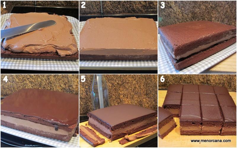 como hacer la cobertura para la tarta Rigó Jancsi