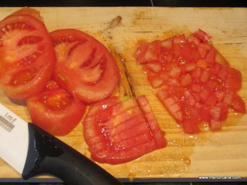 Como cortar el tomate pata tartar