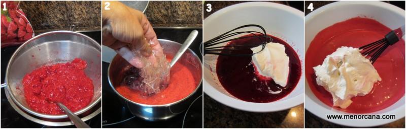Como hacer la crema de relleno y la cobertura del pastel rayado