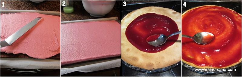 Como montar el pastel rayado de chocolate y frambuesas