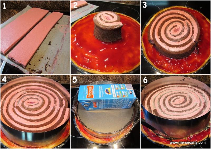 Como montar el pastel de chocolate y frambuesas