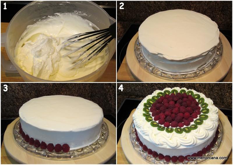 Como decorar el pastel de chocolate y frambuesas