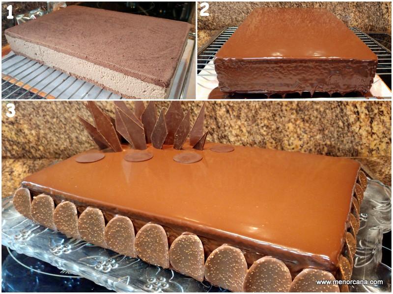 Como hacer la tarta de chocolate con mousse de nutella