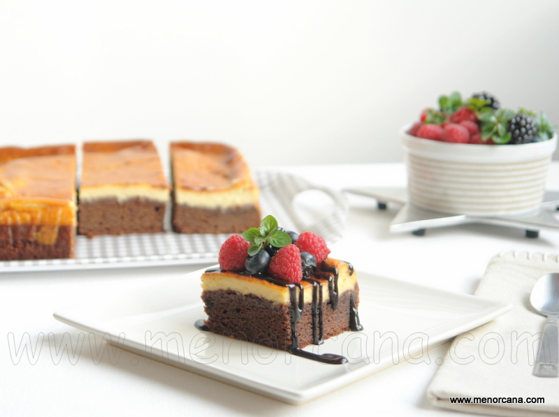 Brownie cheesecake (pastel de chocolate y queso)
