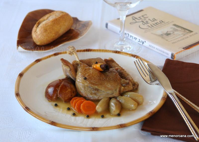 Pato con peras, un plat de ànedes estofades (art de la Cuina)