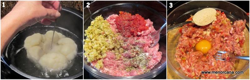 Como hacer bomba de coliflor con carne picada