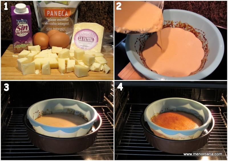 Preparacion de la tarta de queso sin lactosa y sin gluten
