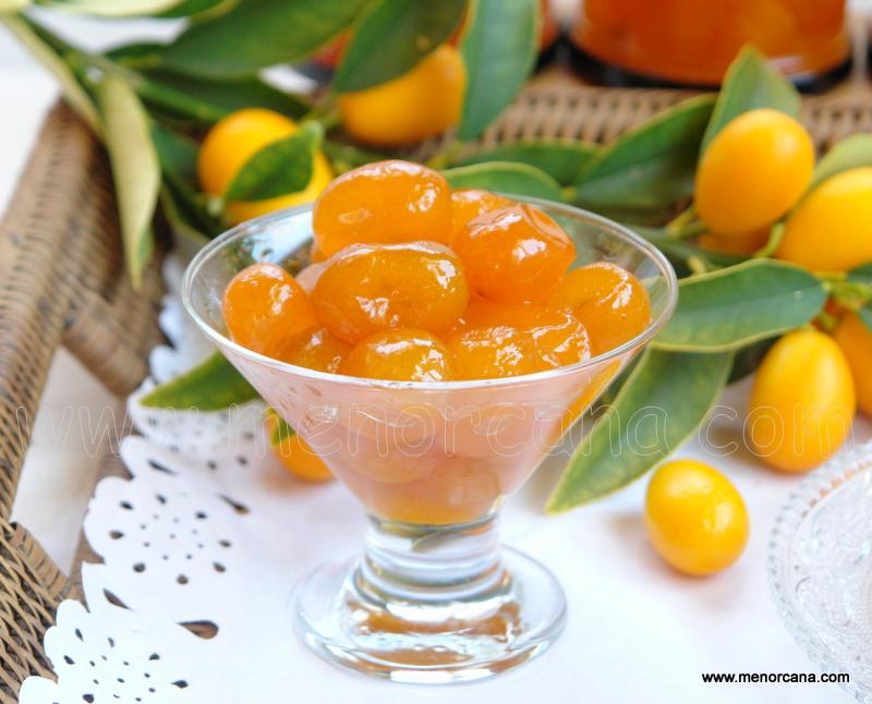 Kumquats en almíbar y mermelada