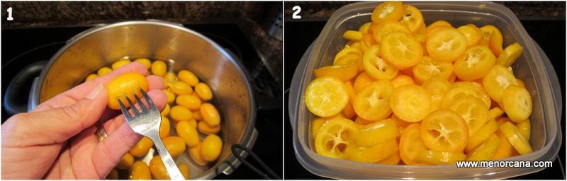 Como hacer kumquats en almibar