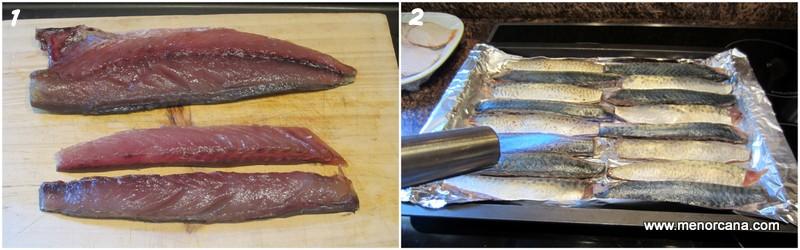 Preparacion de caballa marinada, receta del celler de can roca