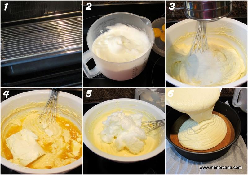 Como hacer el relleno de la tarta de queso con naranja y chocolate (sin azúcar)