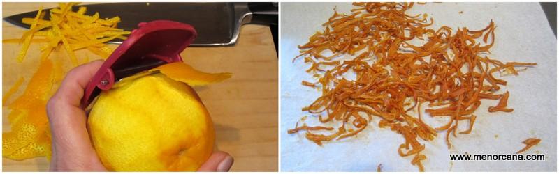 Como hacer virutas de naranja para tarta de queso con naranja y chocolate