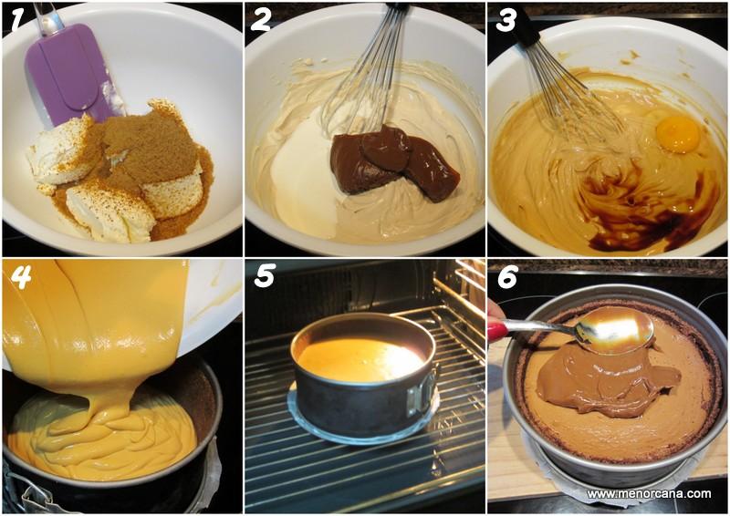 Como hacer tarta de queso con dulce de leche