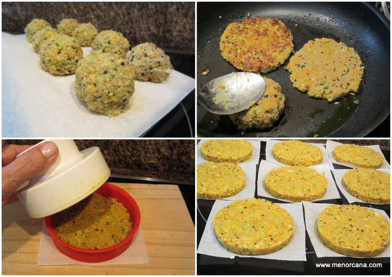 Como hacer hamburguesas de quinoa