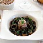Calamares en su tinta con arroz hervido