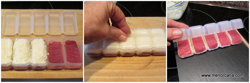 Como hacer nigiri de coliflor