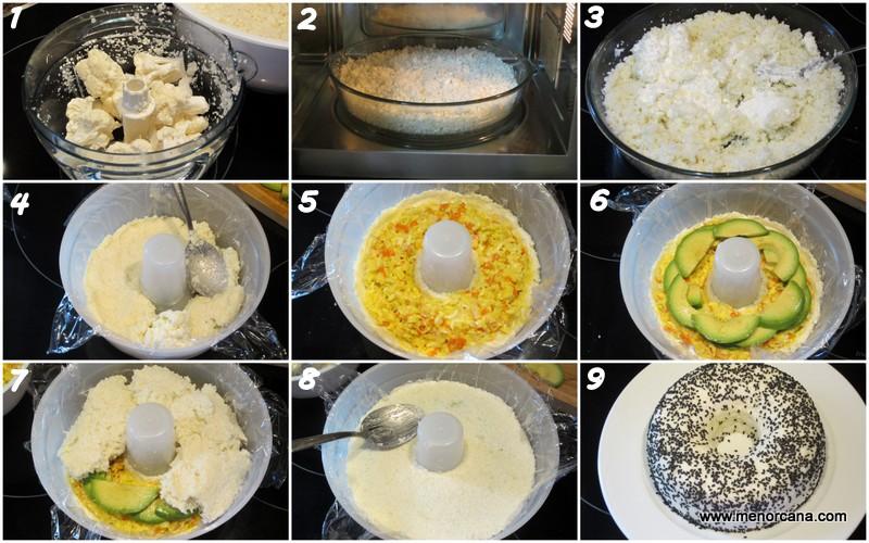 Como hacer sushi de coliflor