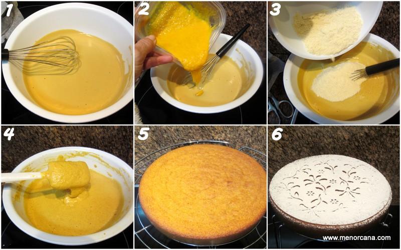 Paso a paso de la tarta de almendra y mandarina