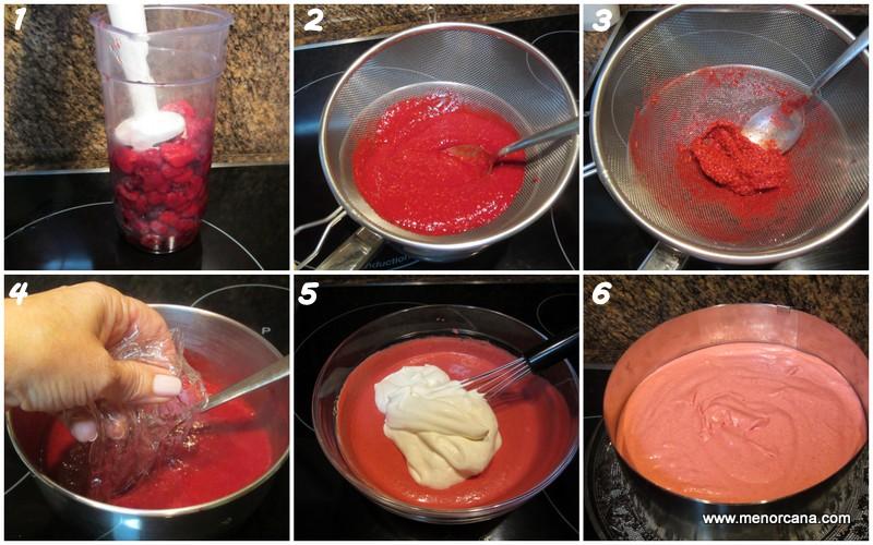 Como hacer la mousse de frambuesas