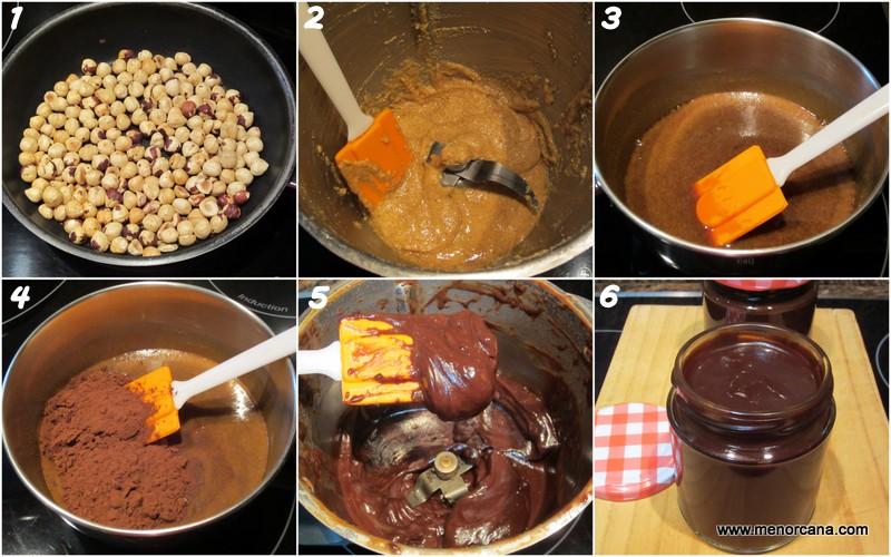 Paso a paso de la crema de cacao y avellanas casera