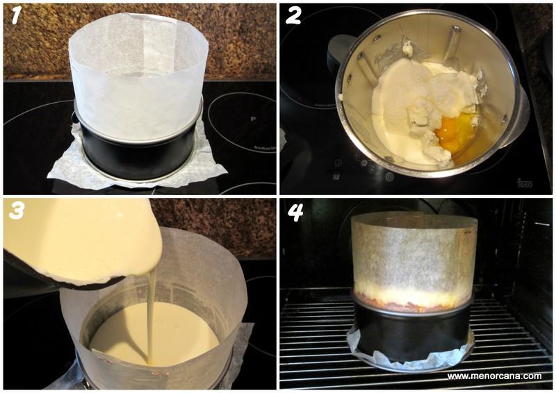 Preparacion de la tarta de queso del restaurante la viña