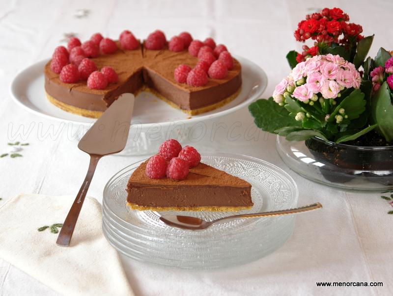 Tarta de chocolate sin azúcar, sin huevo y sin gluten