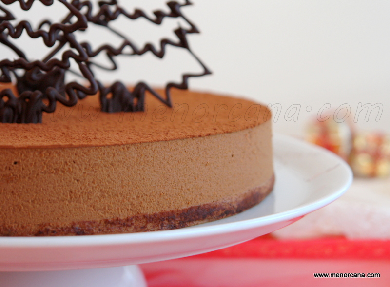 tarta mousse de chocolate, cafe y whisky